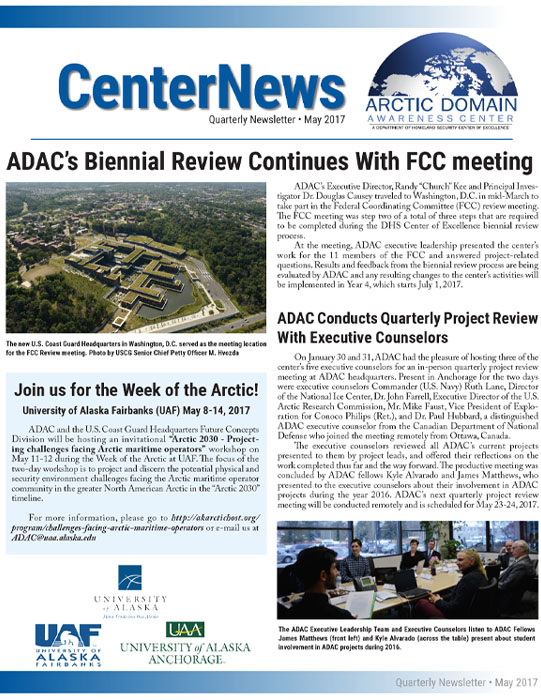 ADAC May 2017 Quarterly Newsletter